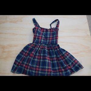 Abercrombie kids girls dress HTF plaid XL